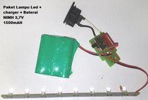 Paket Lampu Led  charger   baterai NIMH 3.7V 1500mAH https://www.bukalapak.com