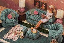 Вязаная игрушечная мебель