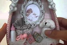 MDF wood baby girl dress layer shadow boxes / Sa Crafters MDF wood baby girl dress layer shadow box products