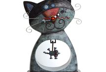 Allen Designs / Michelle Allen's distinctive designs combine humorous form with practical function, making them excellent gifts for any occasion. Featuring her Cat and Owl, Smiling Frog and original clocks collections