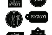 Christmas tags & labels - Free printables