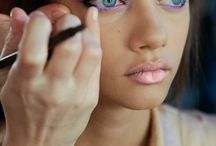 Make up / It's all about emphasising your features, your marks. Follow your eyes shape. Highlight and mystery.