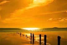 きれいな夕陽