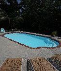 "Vegas Model by San Juan Fiberglass pools / Vegas (118 photos)  Width 15' 11"" / 4.85M Length 27' 11"" / 8.51M Depth 5' 1"" / 1.55M Area 356ft2 / 33.1M2 Volume 11,300G / 42,800L"