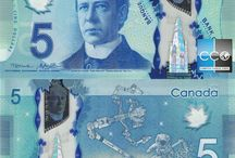 Billets Canada / Les billets de banque canadiens en polymère présentent de nombreux avantages : ils sont sûrs, durables, novateurs et plus écologiques que ceux des séries précédentes! Voir le site de la Bank of Canada : http://www.bankofcanada.ca/banknotes/bank-note-series/polymer/