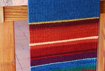 Wool weaving on loom