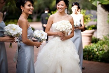 Bride & Bridesmaids   Bouquets   White & Blue