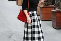 Midi skirts - outfits