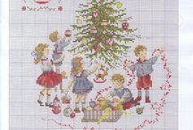 Handarbeit sticken 3Kreuzstich Weihnachten