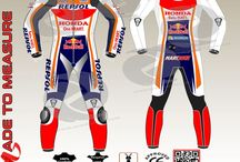 marques honda repsol racing leather style suit custom made in cowhide and kangaroo leather