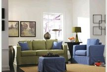 Green and blue decor
