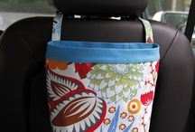 Car Headrest Caddies / Drive in style with Green Goose Car Bags Headrest Caddies!  Create your own color combinations!  Completely customizable.  Best gifts ever!  Stash your kiddie items in the back seat!