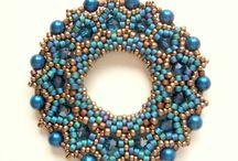 beadwork - donuts, pendants
