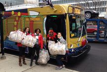 CTA Holiday Bus Happy Friday! / On Friday, December 12th, the Garrett Popcorn Shops team loaded up the riders on the #CTAholidaybus with our world famous #GarrettMix to help #BrighTIN the Holidays for #HappyFriday! / by Garrett Popcorn Shops