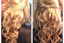 Wedding hair & dress