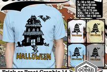 kaos Tema Halloween | Trick or Treat  | Tema Halloween | Trick or Treat T-shirt