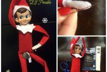 Elf on the shelf-- christmas ideas / by Lyndsay Wyeth