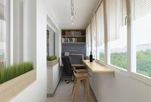 Интерьер   Балконное помещение