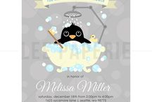 Penguins baby shower