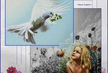 Digitale creaties van spreuken en gedichten. / Is de naam van het gedicht, spreuk, plaatje of foto bekend dan staat deze er bij.