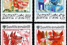 Hungarian stamps / retro,vintage
