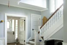 Classical Roots / updated traditional, medium and dark woods with lighter paint colors, neutral with a pop of color, mix of detail and clean lines, beautiful florals, simple beauty with timeless appeal.
