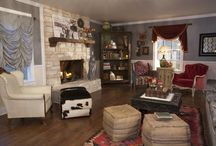 the cowboy & the gypsy living room / our parents living room for hgtv episode. see reruns now on great American country! / by JuNK GyPSY