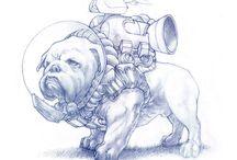 Bulldog Art / Bulldogs