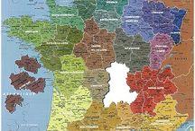 Puzzle géographique artisanal Carte France couleur