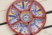 Talavera Mexican Pottery / A range of Mexican Talavera Serveware.