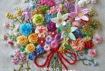 자수 꽃다발