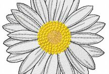 Embroidery designs. Daisey flower