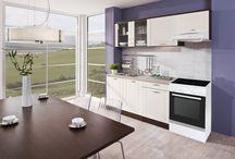Kuchyně vhodné do malých bytů / Panelákový byt nebo méně místa na kuchyňskou linku? To nemusí být překážkou k tomu mít krásnou kuchyňku. Inspirujte se a vyberte si nábytek vhodný pro malou kuchyni.