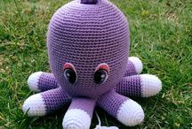 Baby toy knit and croket