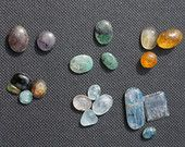Stone Cutting and Polishing / Cutting precious cabochon gemstones. Handmade, perfect for setting in unique jewelry.