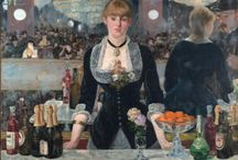 Edouard Manet, Bar at the Folies-Bergere, 1881-2 / Our first board is all about Manet's Bar at the Folies-Bergere. We hope you like it!  / by The Courtauld Education