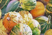 Картины овощи