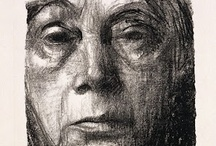 ARTIST~Kathe Kollwitz / Her work embraced the victims of poverty,hunger and war. She lost her own son in WWII. / by Patti Umlauf