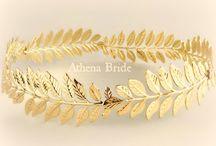 Crown GoldStefana - Greek Goddess / https://www.etsy.com/listing/249604650/gold-crown-leaves-athena-goddess-stefana?ref=listing-shop-header-2