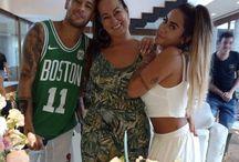 Nadine Goncalves , Rafaella Beckran i Neymar Da Silva Santos Junior