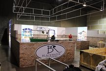 40' x 40' SEG Extrusion Display /  Panoramic display with Light boxes