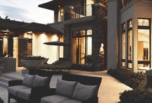 Outdoor spaces at night