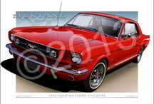 Mustang Prints / Mustang Automotive Art Prints