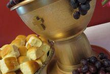 Holly communion decoration
