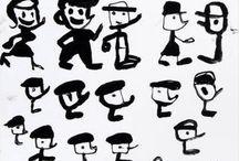 Mariscal The Garriris-COMIC / Piker, Fermin & Cia., la troupe de Los Garriris, unos desvergonzados outsiders que recorren playas, bares, pistas de baile y pescan en aguas plácidas lunas y chicas. El cómic, la historieta, una forma de expresión donde Mariscal se siente como pez en el agua. #garriris #comics #artwork #tebeos #historietas #Javier Mariscal #MariscalStore