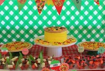 Pizza Pizzeria Birthday Party Ideas / Pizza and Pizzeria birthday party theme ideas, party planning tips, pizza party deoration, party food ideas and pizza party cakes.