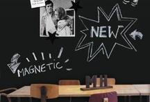 Krijtberg magneetbord