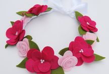 flores diademas .  collares