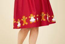 Christmas theme skirt