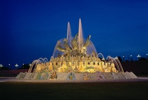 Fountains @  Ramoji Film City / The fountains at Ramoji Film City located strategically are exquisite compositions of beauty. These gushing beauties form an important facet of the grand design which comes together to make one large expression of what Ramoji Film City is!